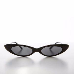 THE BELLA SUNGLASSES - Thin Skinny Narrow Cat Eye