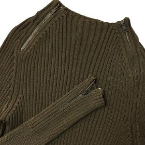 GUCCI $1280 ribbed zipper embellished Men's