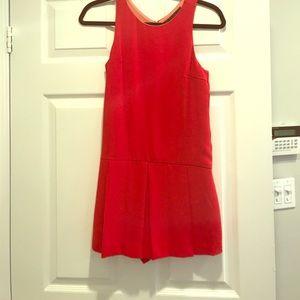 Zara romper skort skirt red