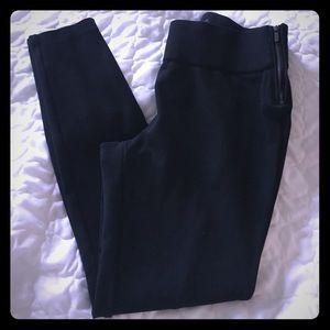 Old Navy Ponte Leggings Zippers Medium Black