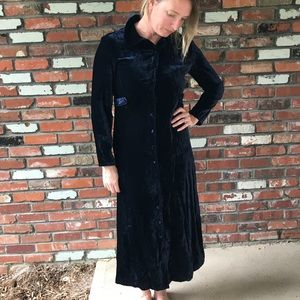 Vintage Johnny Was velvet dress