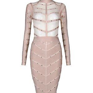 Dresses & Skirts - Nude Bandage/ Mesh Dress