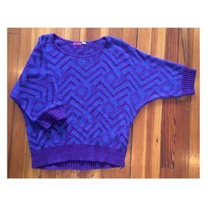 UO {LUX}   80s-inspired zig zag dolman sweater
