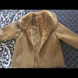 Fur suede jacket