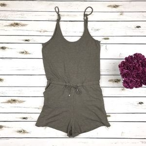 Thyme & Honey Soft Scoop Neck Drawstring Romper