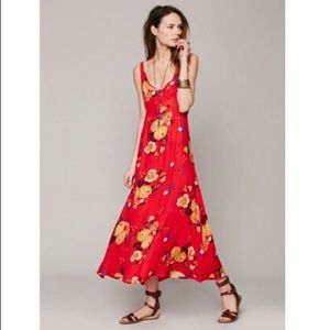 Intimately Free People red floral slip dress