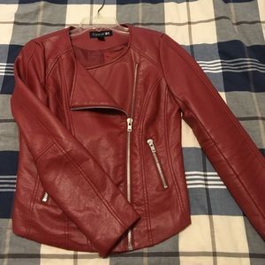 Forever 21 faux leather asymmetrical jacket