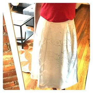 White lined Jcrew lace a-line skirt