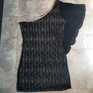 Dresses & Skirts - ONE SHOULDER LACE DRESS
