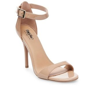 Nude Mossimo Ankle Strap Heels