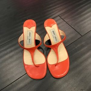Orange Jimmy Choo Kitten Heel
