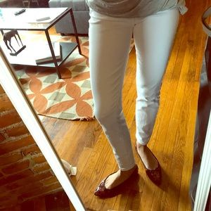 Jcrew toothpick white Jean size 24