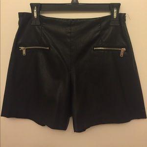 Zara pleather shorts
