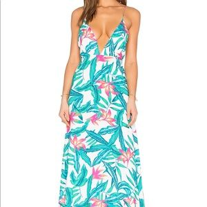 Amazing tropical print dress perfect for vaycay!