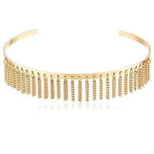 NWT Open Collar with Chain Fringe Choker Necklace