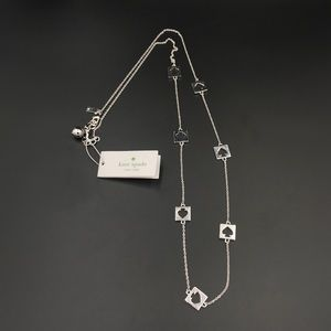 kate spade Silvertone Hole Punch Necklace NWT IOB