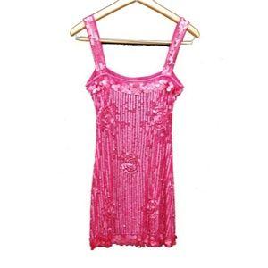 Arden B. Sexy pink vintage sequins ooak xs party