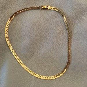 Monet vintage thick gold serpentine choker nklc