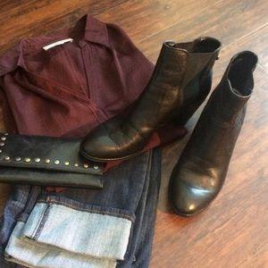 Anne Klein Geordanna Leather Booties