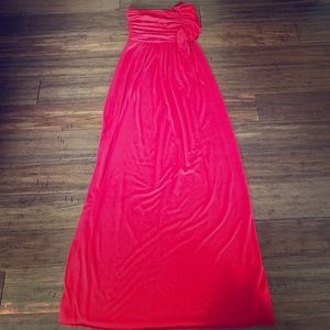 Red strapless maxi!