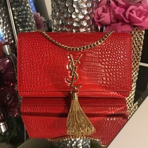 Gorgeous red leather bag❤️