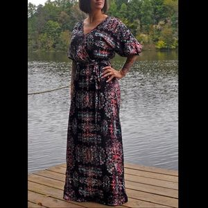 Tribal / Aztec Wrap Maxi Dress