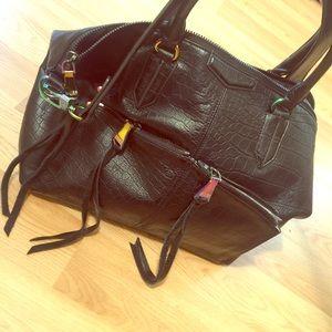 Aimee Kestenburg Phoenix Black Leather Handbag