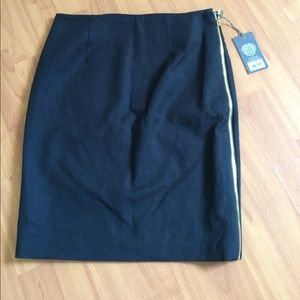 NWT VINCE CAMUTO SIDE ZIP PENCIL SKIRT SZ 0