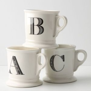 Anthropologie 'D'  monogram mug