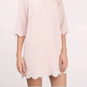 Tobi Pink Scalloped Dress
