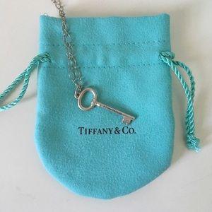 Tiffany Sterling Silver Key Necklace