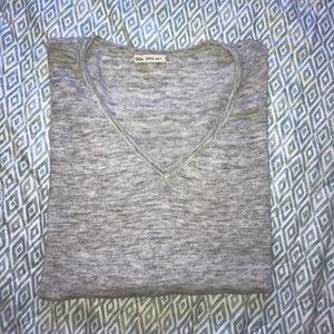 Zara Knit Basic V-Neck Sweater