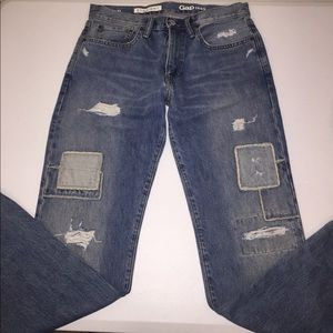 GAP Patchwork Distressed Jeans