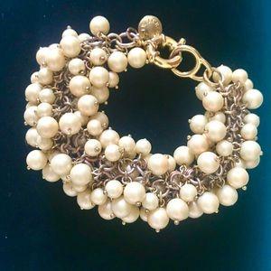J. Crew Pearl Cluster Bracelet