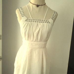 TCEC Ivory Studded Dress Sleeveless