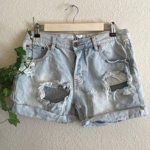 ONE TEASPOON X women's Denim Shorts 26
