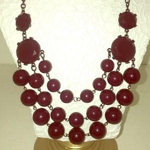 Deep burgundy statement necklace