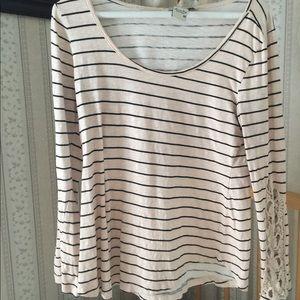 Pink & black stripe shirt
