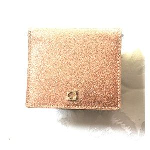 Kate spade pink sparkle French Wallet