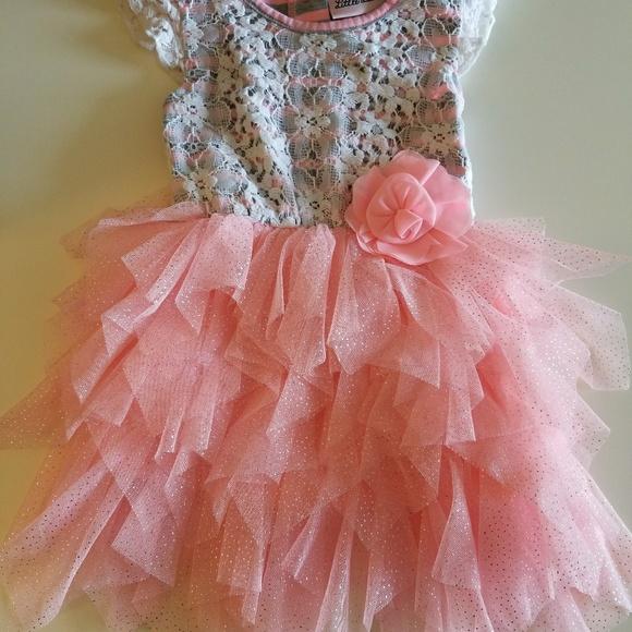 ab9736075d Little Lass Dresses   Baby Girls 12 Month Lace Tulle Dress   Poshmark