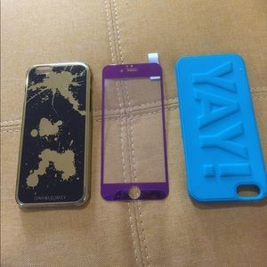 2 iPhone 📱 6 6s case and 1 screen protector