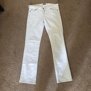 J. Crew matchstick size 30 white jeans