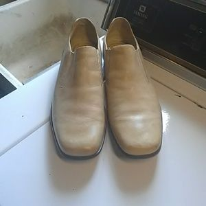 NEW Mens I.travel tan leather loafers sz 12!
