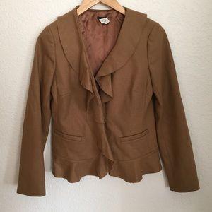 J.Crew Wool Ruffle Blazer Jacket