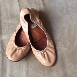 Lanvin Nude Patent Leather Flats