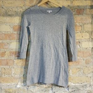 Gap Maternity Pointelle Crew Sweater in Gray