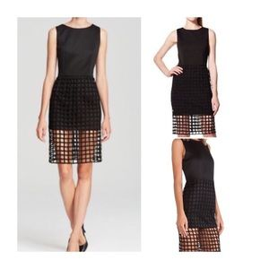 JOA (J.O.A.) Black Caged Sheath Dress NWT