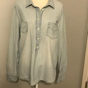 J. Crew Factory Chambray Popover. Size XL