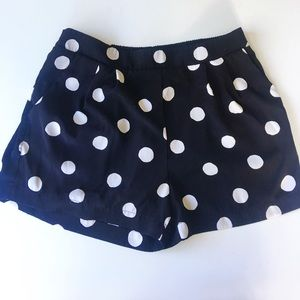 Black Polka Dot Shorts