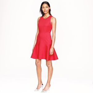 J. Crew Paneled Flare Coral Sleeveless Dress